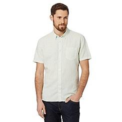 J by Jasper Conran - Designer light green plain dye linen blend shirt