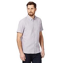 J by Jasper Conran - Designer lilac plain dye linen blend shirt