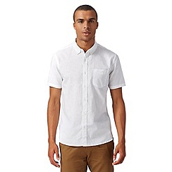 J by Jasper Conran - Big and tall designer white short sleeved shirt