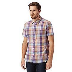J by Jasper Conran - Designer purple checked short sleeved shirt