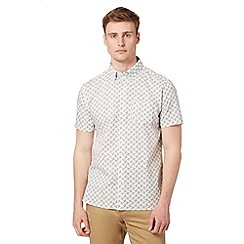 J by Jasper Conran - Designer white paisley print short sleeved shirt