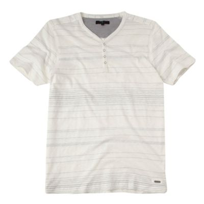 White Pali slub neck t-shirt