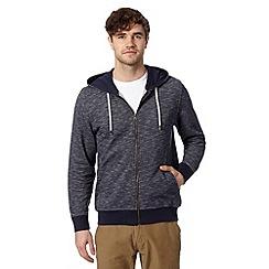 J by Jasper Conran - Designer navy textured hoodie