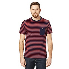 J by Jasper Conran - Designer red striped pocket t-shirt