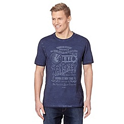 J by Jasper Conran - Designer navy 'Whiskey' oil wash t-shirt