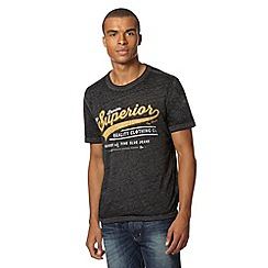 J by Jasper Conran - Designer dark grey burnout effect t-shirt