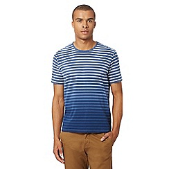 J by Jasper Conran - Designer navy dip dye striped t-shirt