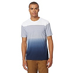 J by Jasper Conran - Designer white dip dye striped t-shirt