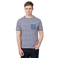 J by Jasper Conran - Designer blue striped pocket t-shirt