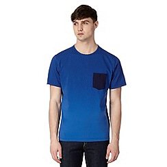 J by Jasper Conran - Designer blue geometric fade out t-shirt