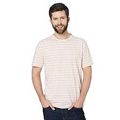 J by Jasper Conran - Big and tall designer peach fine striped t-shirt