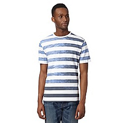 J by Jasper Conran - Designer white ombre striped t-shirt
