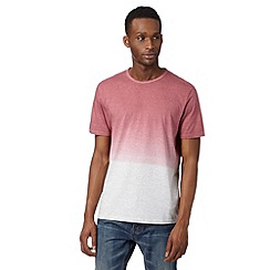 J by Jasper Conran - Designer pink striped dip dye t-shirt
