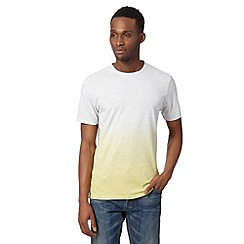 J by Jasper Conran - Designer yellow striped dip dye t-shirt