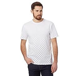J by Jasper Conran - Designer white dot dip dye t-shirt