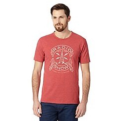 J by Jasper Conran - Designer red radio show print t-shirt