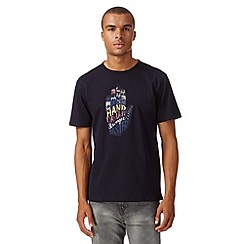 J by Jasper Conran - Designer navy palm graphic t-shirt