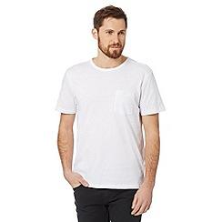 J by Jasper Conran - Designer white paisley sleeve t-shirt