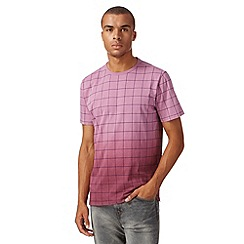 J by Jasper Conran - Pink window pane checked dip dyed t-shirt