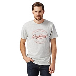 J by Jasper Conran - Designer light grey 'Gasoline' print t-shirt