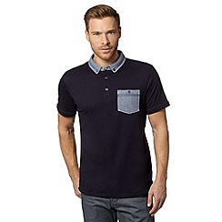 J by Jasper Conran - Designer navy chambray collar polo shirt