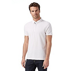 J by Jasper Conran - Big and tall designer light pink plain mercerised polo shirt