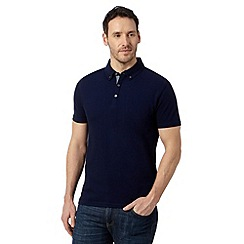 J by Jasper Conran - Designer navy plain mercerised polo top