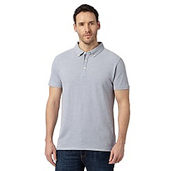 J by Jasper Conran - Big and tall designer light grey plain mercerised polo top