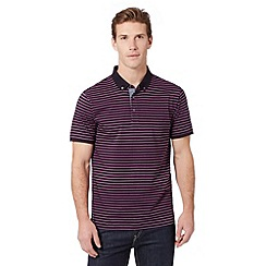 J by Jasper Conran - Big and tall designer pink striped polo shirt