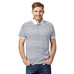 J by Jasper Conran - Designer blue striped mercerised cotton polo shirt