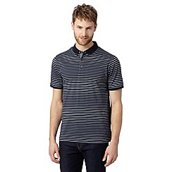 J by Jasper Conran - Big and tall designer grey striped polo shirt