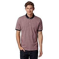 J by Jasper Conran - Designer wine square spot polo shirt