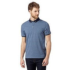 J by Jasper Conran - Designer blue printed polo shirt