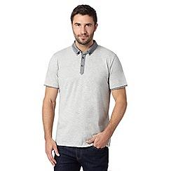 J by Jasper Conran - Designer grey jacquard contrast polo shirt