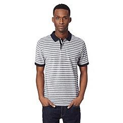 J by Jasper Conran - Designer navy striped textured polo shirt