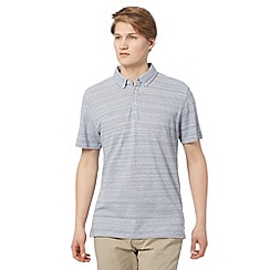 J by Jasper Conran - Designer light blue yarn grindle polo shirt