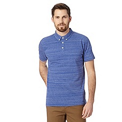 J by Jasper Conran - Big and tall designer bright blue dye striped polo shirt