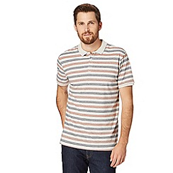 J by Jasper Conran - Big and tall designer off white striped polo shirt
