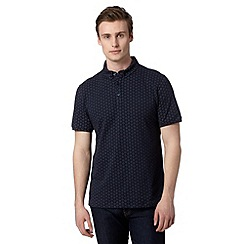 J by Jasper Conran - Designer navy dot print polo shirt