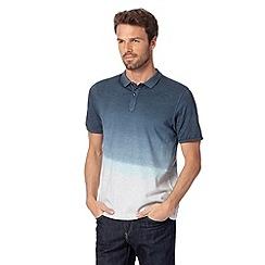 J by Jasper Conran - Designer navy ombre polo shirt