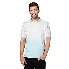 J by Jasper Conran - Designer light blue marl stripe dip dyed polo shirt