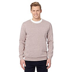 J by Jasper Conran - Big and tall designer light pink crew neck jumper