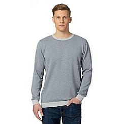 J by Jasper Conran - Big and tall designer grey striped jumper