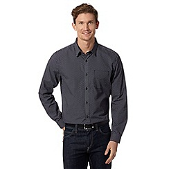 J by Jasper Conran - Big and tall designer navy polka dot shirt