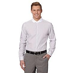 J by Jasper Conran - Designer grey shadow striped shirt