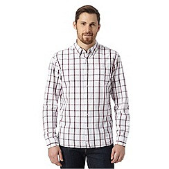 J by Jasper Conran - Designer pink window pane checked shirt