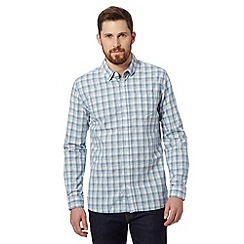 J by Jasper Conran - Big and tall designer blue space dye checked shirt