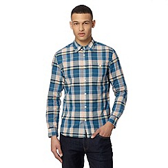 J by Jasper Conran - Designer blue bright marl checked shirt