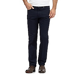 J by Jasper Conran - Designer navy regular fit trousers