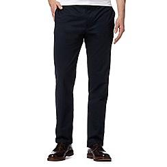 J by Jasper Conran - Designer navy twill flat front trousers